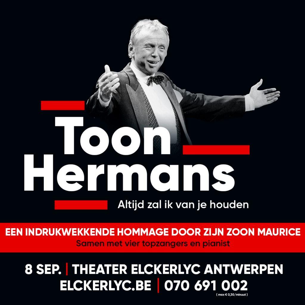 Eerbetoon aan Toon Hermans - affiche