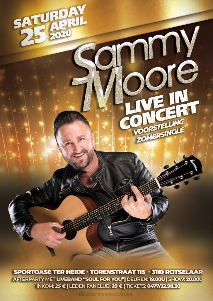Sammy Moore - Live in concert - 25 april 2020